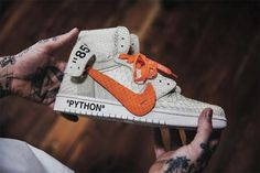 830420ea7bfd The Shoe Surgeon Gives the OFF-WHITE Air Jordan 1 a Halloween Makeover –  HUSH