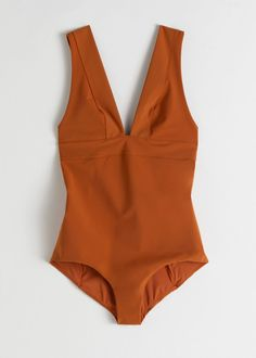 V-Cut Swimsuit - Rust - Swimsuits - & Other Stories