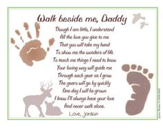 Daddy Teach Me Fishing Personalized Poem 8 X 10 Art Print Baby Child Handprints Christmas Gift For New First Father S Day