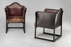 ** Josef Hoffmann Pair of armchairs