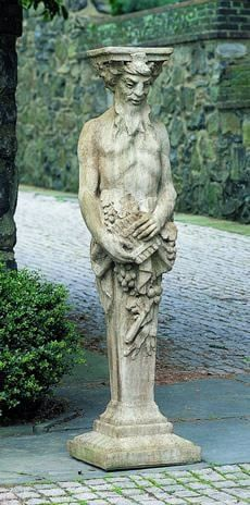 Campania International Tall Satyr Garden Statue