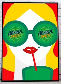 Aperol spritz poster print poster canvas art print poster for home wall art home decor art prints c Art Prints For Home, Home Wall Art, All Poster, Print Poster, Canvas Art Prints, Wall Prints, Illustrator, Clothing Themes, Aperol