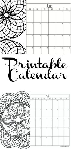 Free printable monthly calendar with a coloring section on the side. So helpful each month to print out and see the schedule on the wall! Monthly calendar.