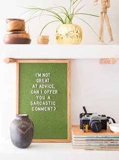 Vintage Green Letter Board from Vintage Revivals SHOP NOW in stock! | Quotes | Shelf Decor