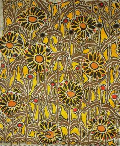 Suzanne Lalique-Haviland. Daisies: pattern for armchairs. Collection Tassinari and Chatel.