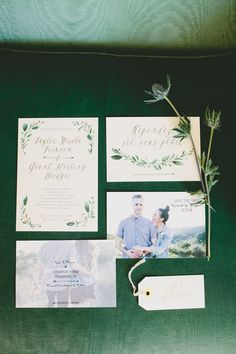 garden wedding invitations - photo by Onelove Photography http://ruffledblog.com/al-fresco-bohemian-wedding