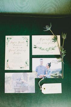 garden wedding invitations - photo by Onelove Photography http://ruffledblog.com/al-fresco-bohemian-wedding