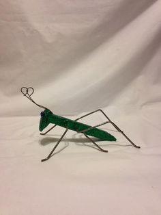 Le cricket jardin Art / pointe du chemin de fer / statue sauterelle rustique