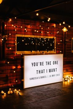 Epic use of lighting by The Style Co. Photo by Erin + Tara. #lighting #wedding #reception #style #lightbox