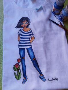 Mis manos y yo el blog de Angeleskay: camiseta pintada a mano