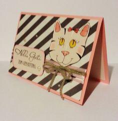 Geburtstagskarte Katze von POMMPLA auf DaWanda.com