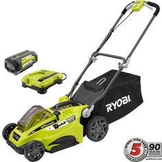 Ryobi 16 in. 40-Volt Lithium-Ion Cordless Battery Walk Behind Push Lawn Mower - Battery/Charger Not Included-RY40104A - The Home Depot