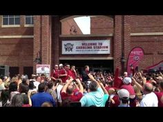 Video from Carolina Stadium in Columbia, SC for the South Carolina Gamecocks team send-off to the College World Series. Coach Ray Tanner says he hopes we get a chance to visit again at Colonial Life Arena.