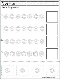 FREE---Snowflake Cut and Paste Easy Patterns