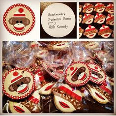 Valentines. Sock monkey. Cookies.