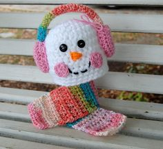 Girly Snowman Hat & Scarf! Super cute for a photo session