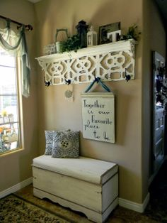 •❈• Little Bit of Paint Shelf made from old ceiling tiles. Great tutorial