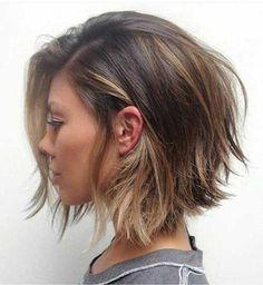 balyajlı katlı kısa saç modeli