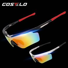 Costelo project Bicycle polarized sunglasses 3 lens Road MTB bike Cycling bici velo Glasses Cycling Eyewear sports Ciclismo
