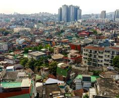 View from Huam-dong, in central Seoul. Behind the tall buildings in the distance is Seoul Station.