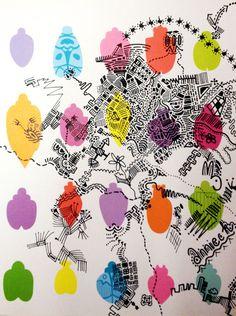 Pentekening in vrolijke vans style :)