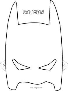 Printable Superheroes Batman Mask Coloring Pages