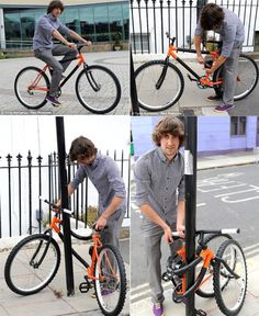 Young British Designer Kevin Scott, 21, has created the worlds first Bendable Bike. Kevin, who is a recent graduate from The De Montfort University, used a ratchet system built into the frame of the bike to allow it to wrap around a pole, enabling the lock to be wrapped through both wheels and the frame. - See more at: http://now-be.tumblr.com/