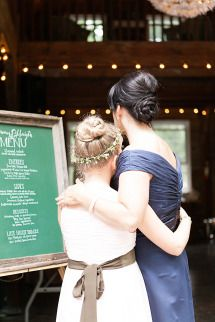 Rustic Wedding in the Catskills | Photos  Calligraphy/Signage:  Más+Millie www.masandmillie.com
