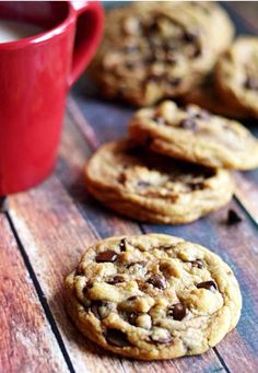 Biscotti con goccie di cioccolato!