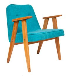 Jozef Chierowski 366 Easy Chair in Blue c.1960