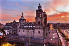 Metropolitan Cathedral Zocalo Mexico City Sunrise more on - http://casinotrip.co/news/article/Viva-La-Mexico #casinotrip #mexico