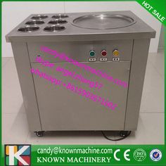 New arrival big pan fried ice cream machine frying ice machine ice pan machine with 6 barrels by DHL