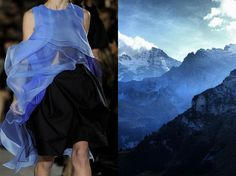 John Galliano S/S 2013 RTW & Scottish Alps. Collage by Liliya Hudyakova