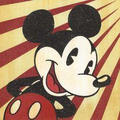 """Rays of Red"" by Trevor Carlton - Original Artwork, 12x12.  #Disney #MickeyMouse #DisneyFineArt"
