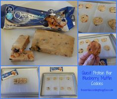 Healthy Snacks: Quest Protein Bar turned into Cookies - New Blueberry Muffin Flavor