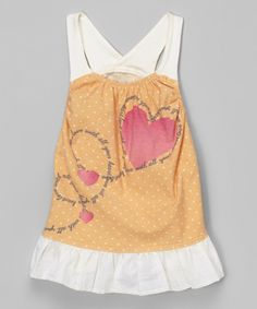 Look at this Citrus Dot Racerback Dress - Infant on #zulily today!