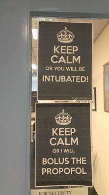 Bahaha! Anesthesia humor! The split personality of