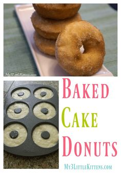 These Baked Cake Donuts Recipe is not only an easy recipe, but it is perfect for any occasion. Can you say absolutely delicious? Recipes cake Baked Cake Donuts {Wilton Style} - My 3 Little Kittens Homemade Baked Donuts, Baked Doughnut Recipes, Easy Donut Recipe, Homemade Cakes, Baked Doughnuts, Donut Recipe No Yeast Baked, Wilton Donut Pan Recipe, Doughnut Batter Recipe, Homemade Breads