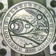 #silverDollar #space series #nasa #astronaut #outerspace #spaceshuttle 20 coins in this #hobonickel series commission!!  Carving coins into little pieces of art, hobo nickel style!! I do custom commissions..  and I'm also on eBay!! Look for username: forbidden_tattoo.. Shoot me an email: hoboshane@gmail.com