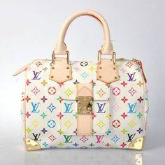 Louis Vuitton Speedy 92643 in Weiß Stylish Handbags, Cheap Handbags, Chanel Handbags, Replica Handbags, Fashion Handbags, Designer Handbags, Louis Vuitton Shop, Louis Vuitton Handbags, Louis Vuitton Speedy Bag
