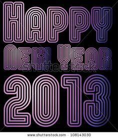 stock vector : happy new year 2013