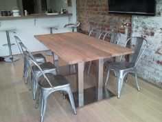 Recycled Lane Melbourne creates beautiful recycled furniture and ethical furnishings for your home, small urban space, office, restaurant or retail store. Recycled Furniture, Bespoke Design, Beautiful Space, Recycling, Dining Table, Restaurant, Shops, Home Decor, Metal