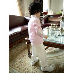 Boys Skirts Pink Long Sleeves for Page Boy Tuxedo Styles