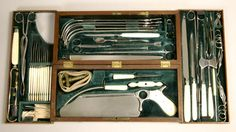 ANTIQUE SURGICAL SETS (Image is of a cased Parker's surgical set by George Tiemann -- late eighteenth century)
