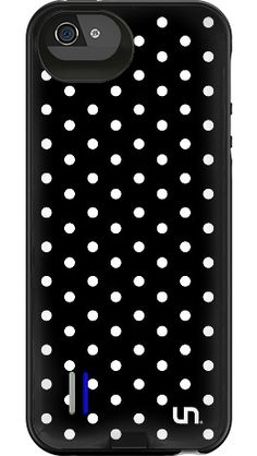 """""""Black Mini Dots"""" by Uncommon for the iPhone 5/5s Power Gallery™"""