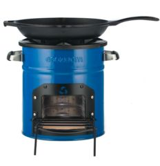 EcoZoom's Zoom Dura rocket stove burns wood and other dry solid biomass. The Dura is great for camping or off-grid cooking and has proven its durability in developing countries where the stove is used daily.