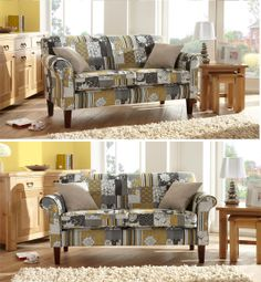 Crocus Large Sofa #patchwork #pattern #interiordesign