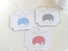 Elephant Baby shower favor tags Custom baby by WildSugarberries