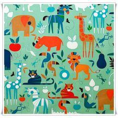 Esta tela es espcatacular, infantil pero con un toque naif, los colores la hacen muy especial!!