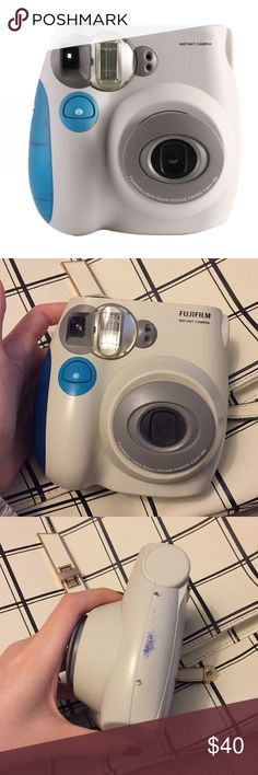 FUJIFILM Instant camera instax mini 7S Great condition! Only some pen inks in the side, you can decorate with sticker if you mind. It's my very first instant camera, I really love it, and create many beautiful memories with it. Recently I got a new one, so I want to sell it.   Hope find someone love it and would use it a lot!  ❤️❤️❤️ Fuji Other